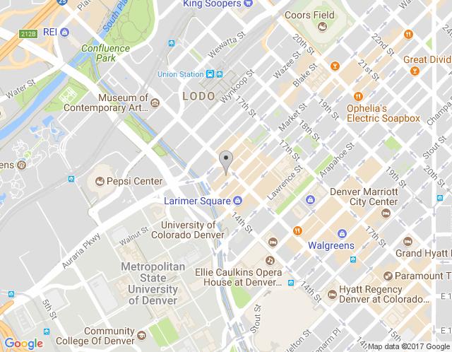 Map of Denver Market Street Studio