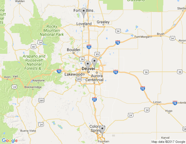 Map of Denver Headquarters
